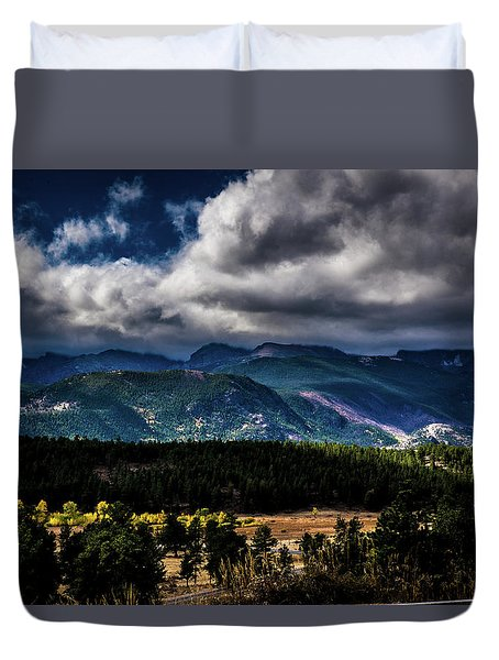 Duvet Cover featuring the photograph Rolling Rockies by James L Bartlett