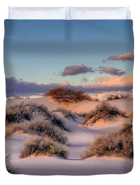 Rolling White Sands  Duvet Cover