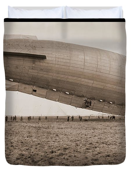 Roma Dirigible At Bolling Field Air Duvet Cover