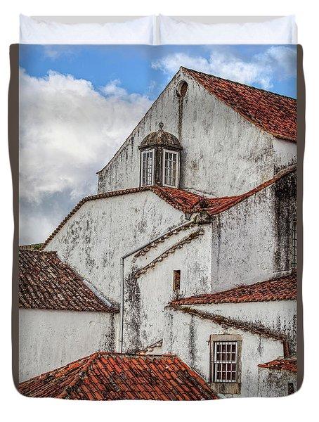 Rooftops Of Obidos Duvet Cover