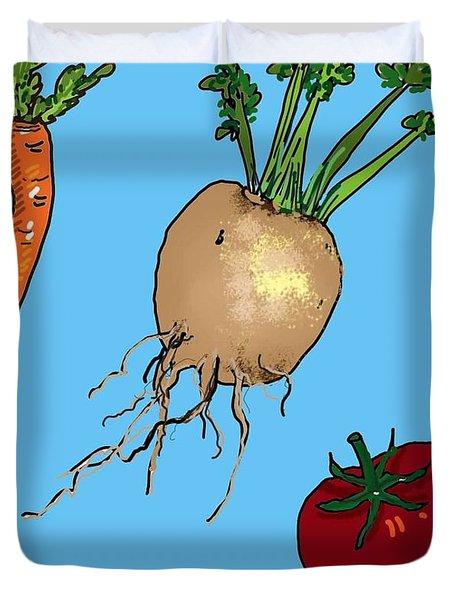 Root Vegetables Duvet Cover