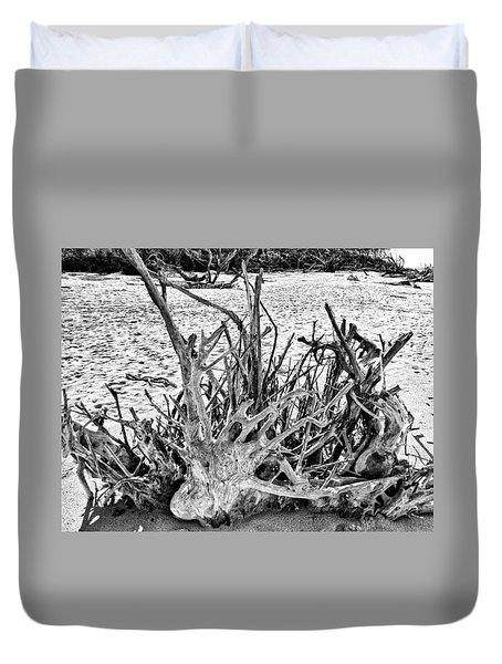 Rooted In Black And White Duvet Cover