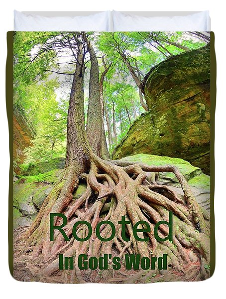 Rooted In God's Word Duvet Cover