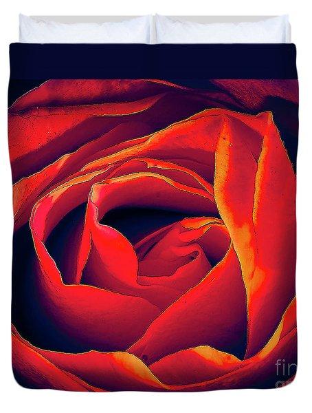 Rose Ablaze Duvet Cover