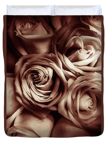 Rose Carmine Duvet Cover