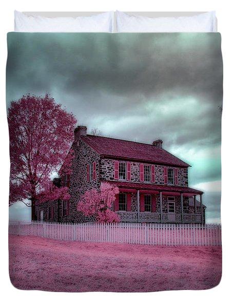 Rose Farm In Infrared Duvet Cover
