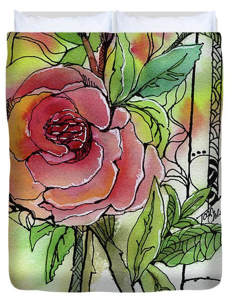 Rose Is Rose Duvet Cover
