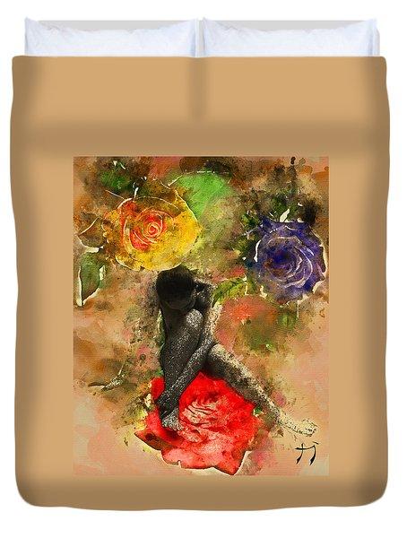 Rosebuds Duvet Cover