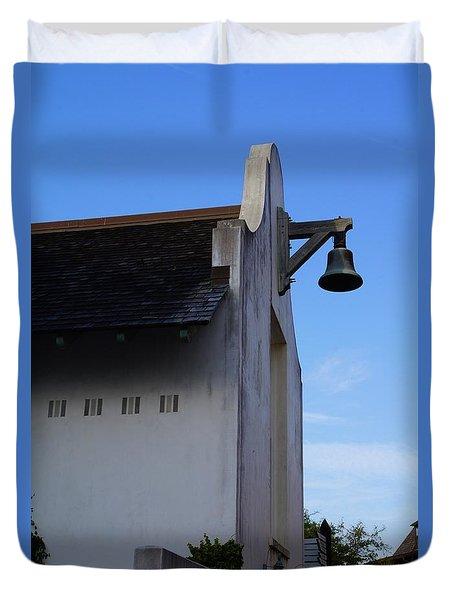 Rosemary Beach Post Office Duvet Cover