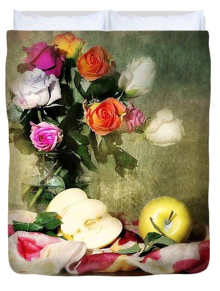 Rosy Pallet Duvet Cover