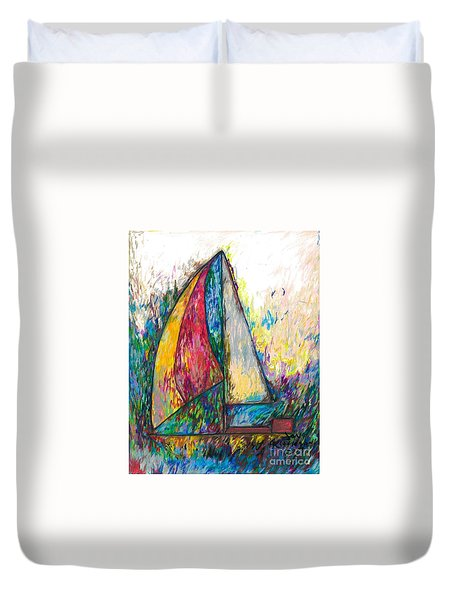 Rough Sailing Duvet Cover