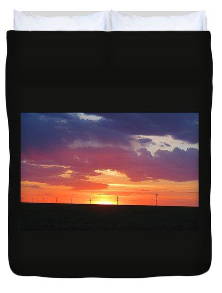Round Barn Sunset Duvet Cover