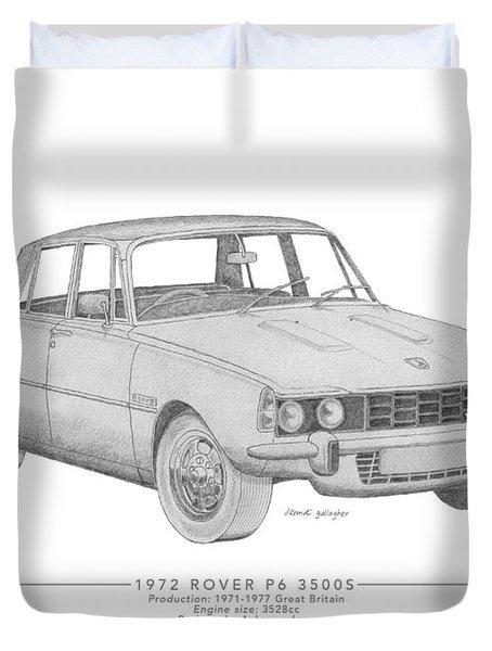 Rover P6 3500s Saloon Duvet Cover