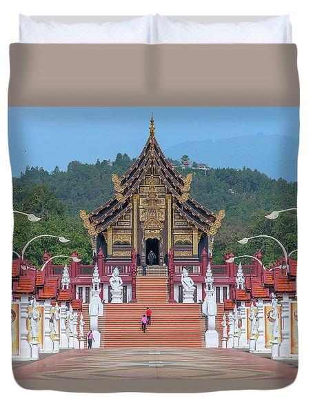 Duvet Cover featuring the photograph Royal Park Rajapruek Avenue To The Grand Pavilion Dthcm2584 by Gerry Gantt