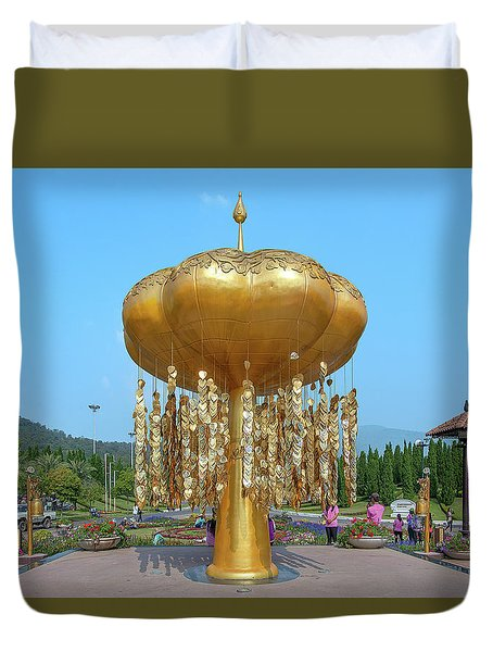 Duvet Cover featuring the photograph Royal Park Rajapruek Golden Sculpture Dthcm2579 by Gerry Gantt