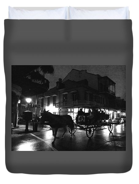 Duvet Cover featuring the photograph Royal Street by Amzie Adams
