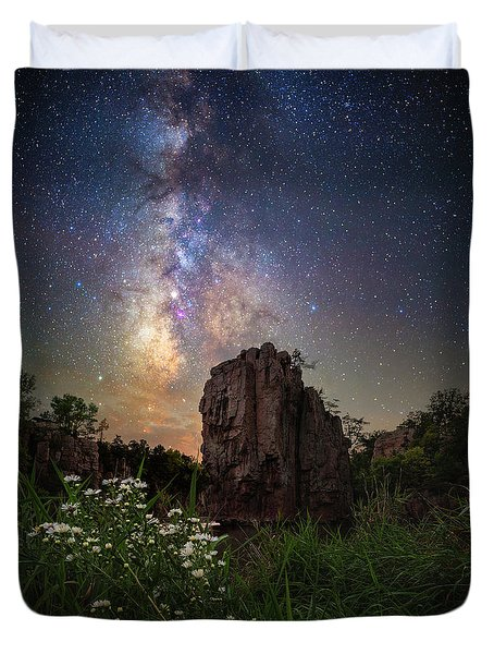 Duvet Cover featuring the photograph Royalty  by Aaron J Groen