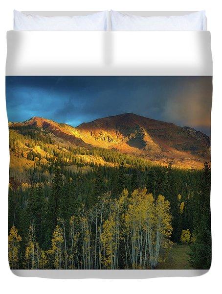 Ruby Range Sunrise Duvet Cover