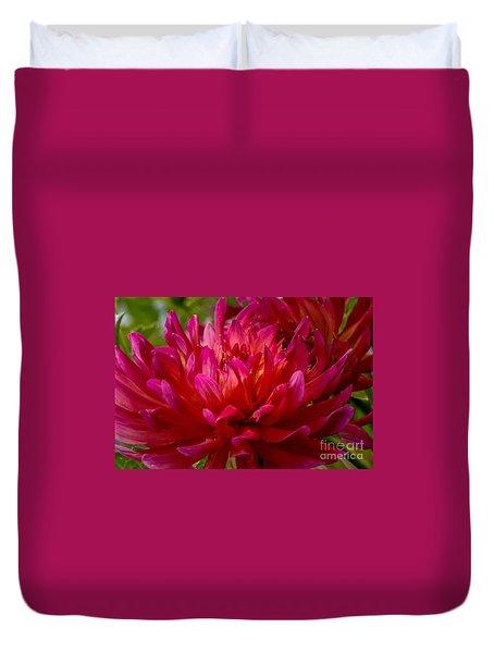 Ruby Red Dahlia Duvet Cover