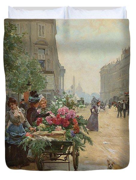 Rue Royale, Paris, 1898  Duvet Cover