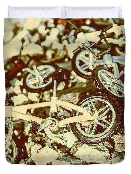 Rugged Biking Duvet Cover