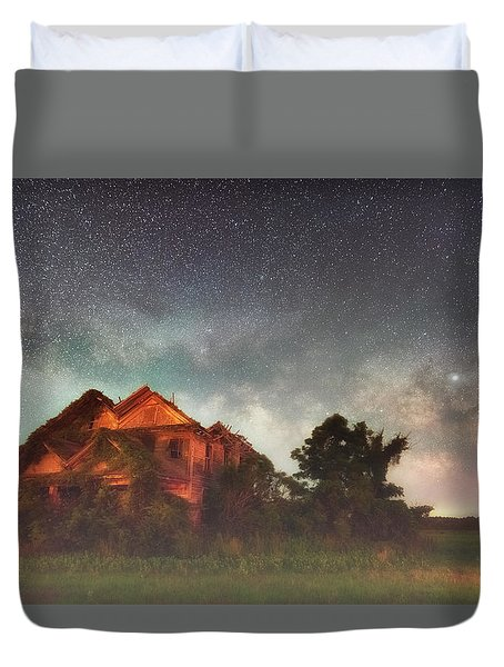 Duvet Cover featuring the photograph Ruined Dreams by Russell Pugh