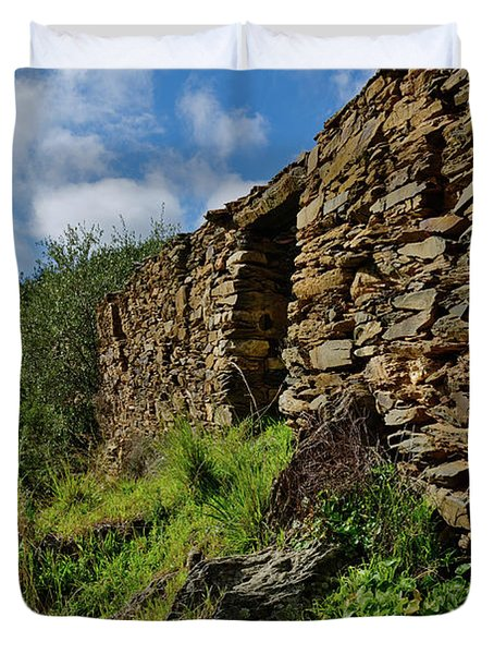 Ruins Of A Schist Cottage In Alentejo Duvet Cover