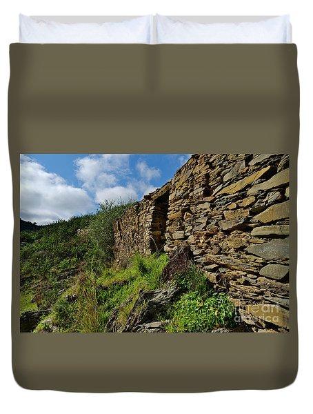 Ruins Of A Schist Cottage In Alentejo Duvet Cover