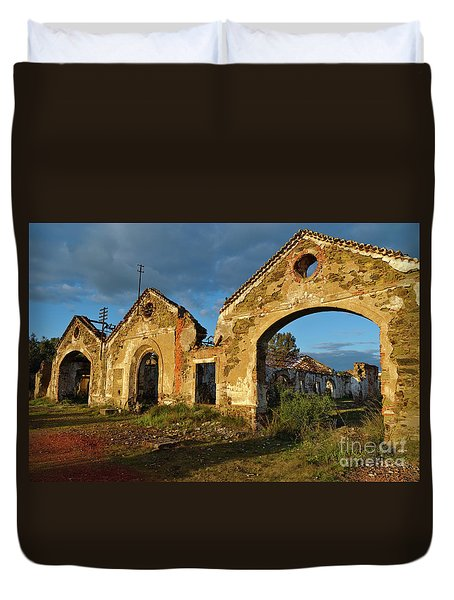 Ruins Of The Abandoned Mine Of Sao Domingos. Portugal Duvet Cover