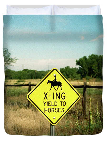 Rules Of The Road Duvet Cover