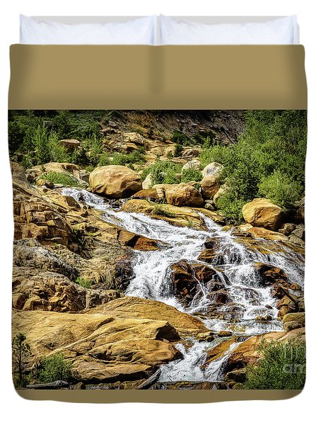 Duvet Cover featuring the photograph Runoff by Jon Burch Photography