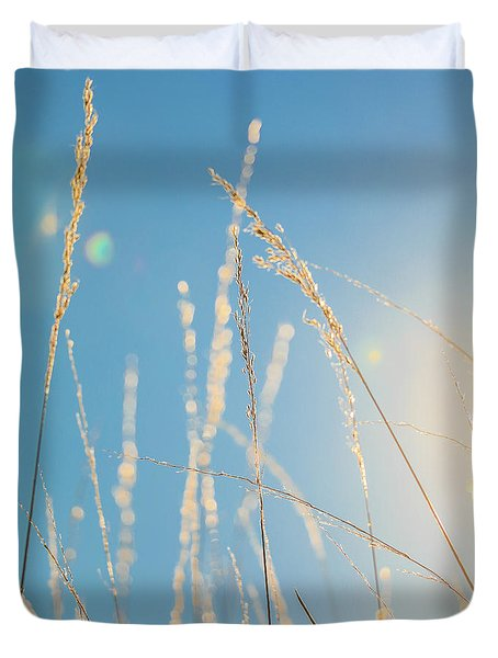 Duvet Cover featuring the photograph Rural Sunflare by Dan Sproul