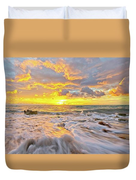 Rushing Surf Duvet Cover
