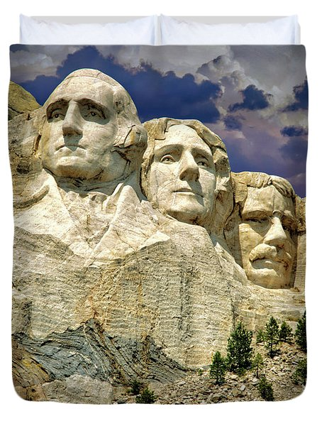 Duvet Cover featuring the photograph Rushmore by Edmund Nagele