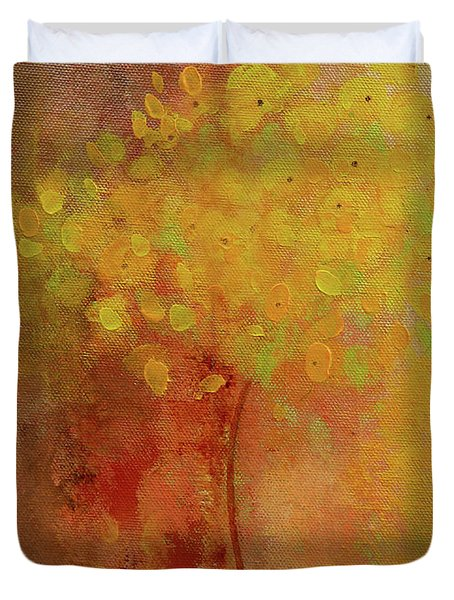 Duvet Cover featuring the painting Rustic Still Life by Valerie Anne Kelly