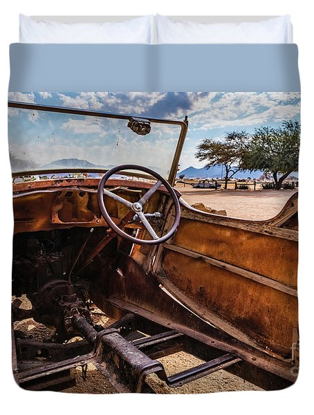 Rusty Car Leftovers Duvet Cover
