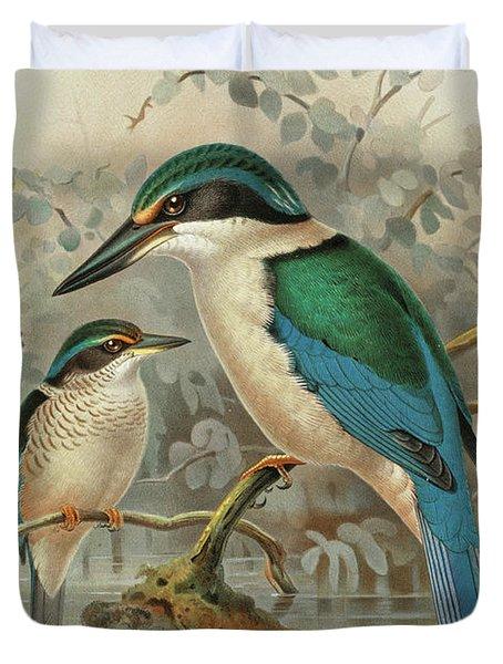 Sacred Kingfisher Duvet Cover