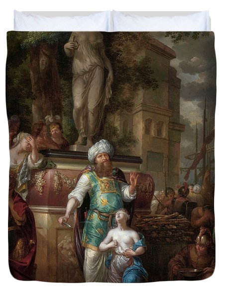 Sacrifice Of Iphigenia, 1700 Duvet Cover