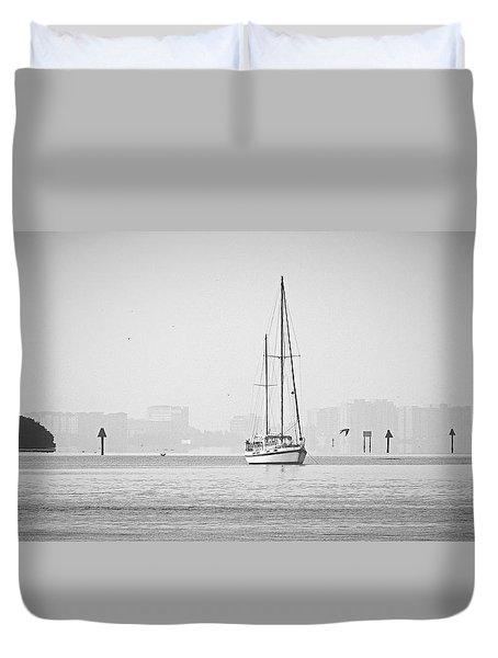 Sail Out Of Sarasota Duvet Cover