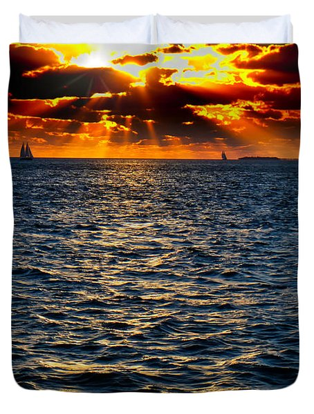 Sailboat Sunburst Duvet Cover