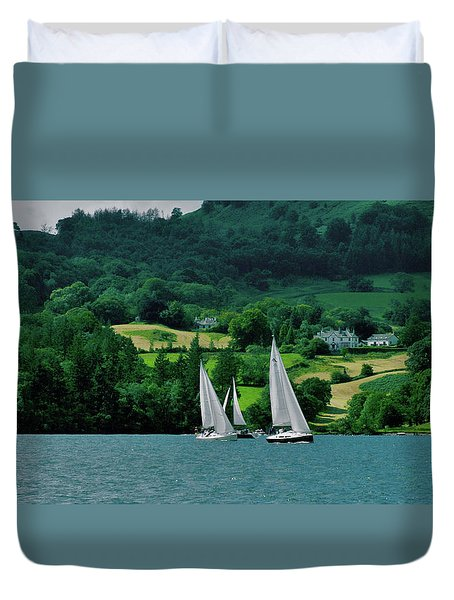 Sailing By Duvet Cover