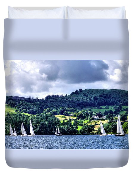 Sailing In Heaven Duvet Cover