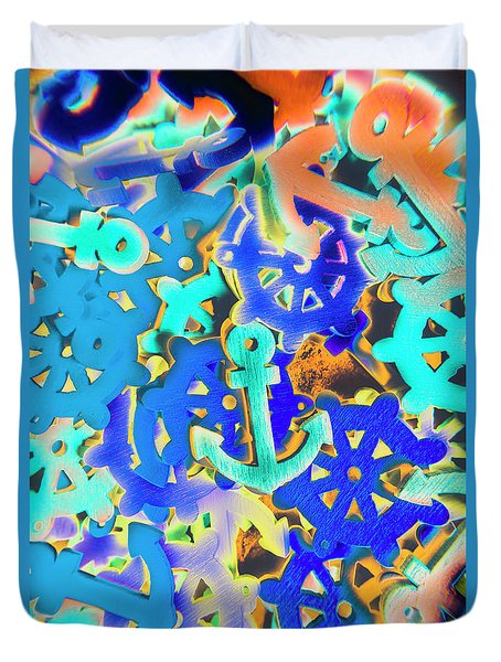 Sailing Pop Art Duvet Cover