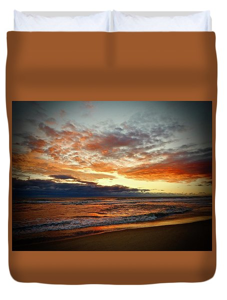 Duvet Cover featuring the photograph Early Autumn Morning by Don Moore