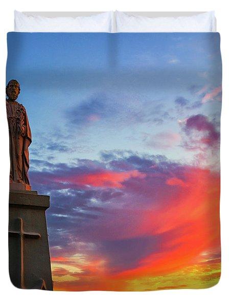 Saint Joseph Sunset  Duvet Cover