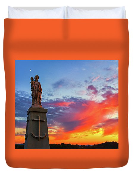 Saint Joseph Sunset  Duvet Cover