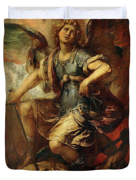 Saint Michael The Archangel Duvet Cover