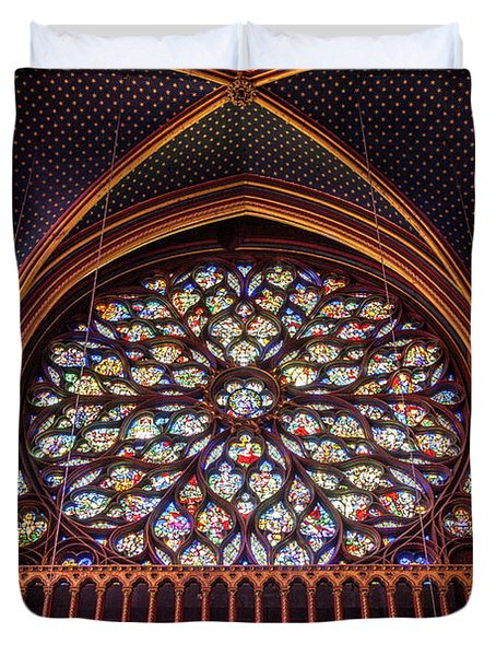 Sainte Chapelle Stained Glass Duvet Cover