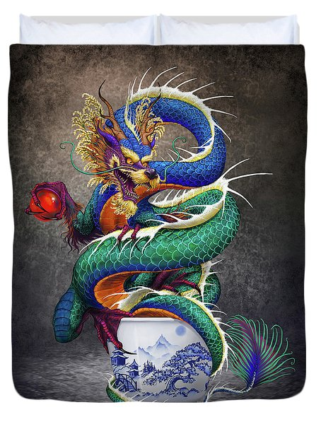 Sake Dragon Duvet Cover