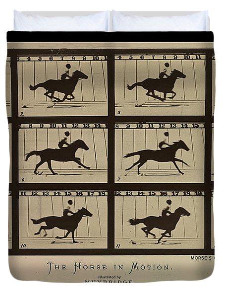 Sallie Gardner At A Gallop - Horse In Motion Duvet Cover